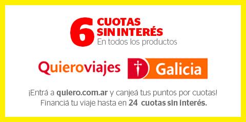 6 cuotas sin interes Quieroviajes Galicia