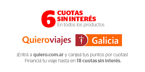18 cuotas sin interes Quieroviajes Galicia